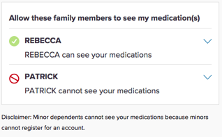 Family Sharing – new feature on Rx Savings Solutions